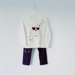 Set of GAP T shirt + Cat & Jack sweatpants sz 3T